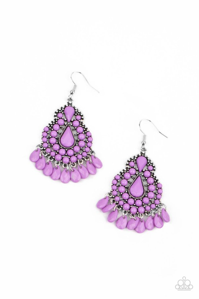 Persian Posh - Purple - Paparazzi Earring Image