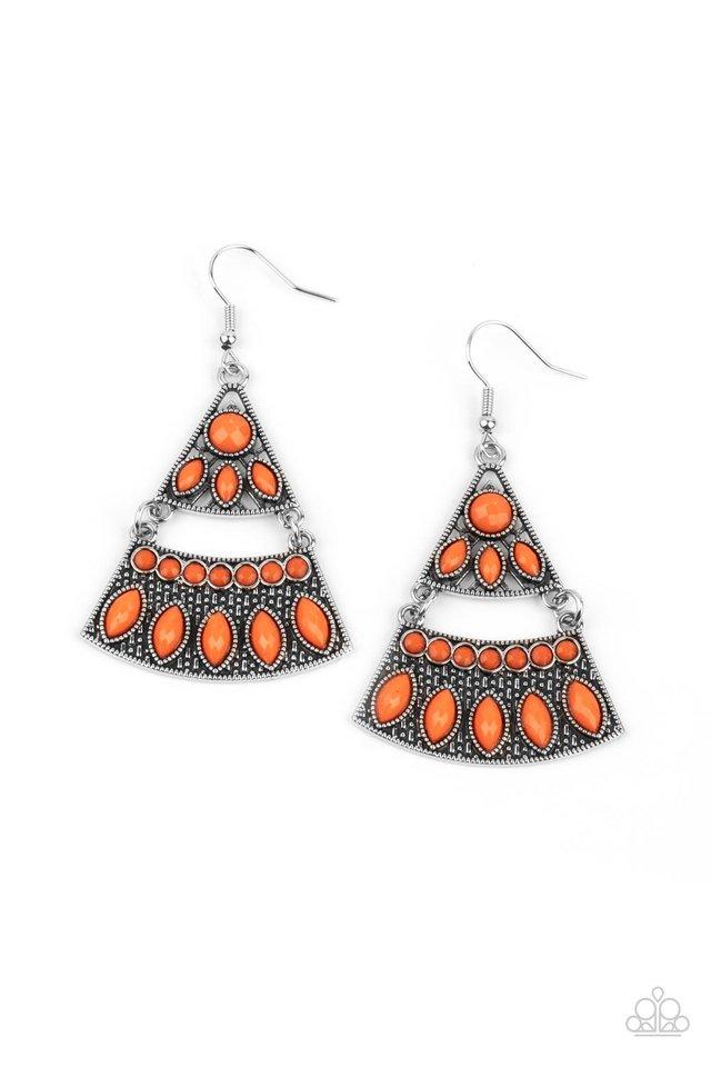 Desert Fiesta - Orange - Paparazzi Earring Image