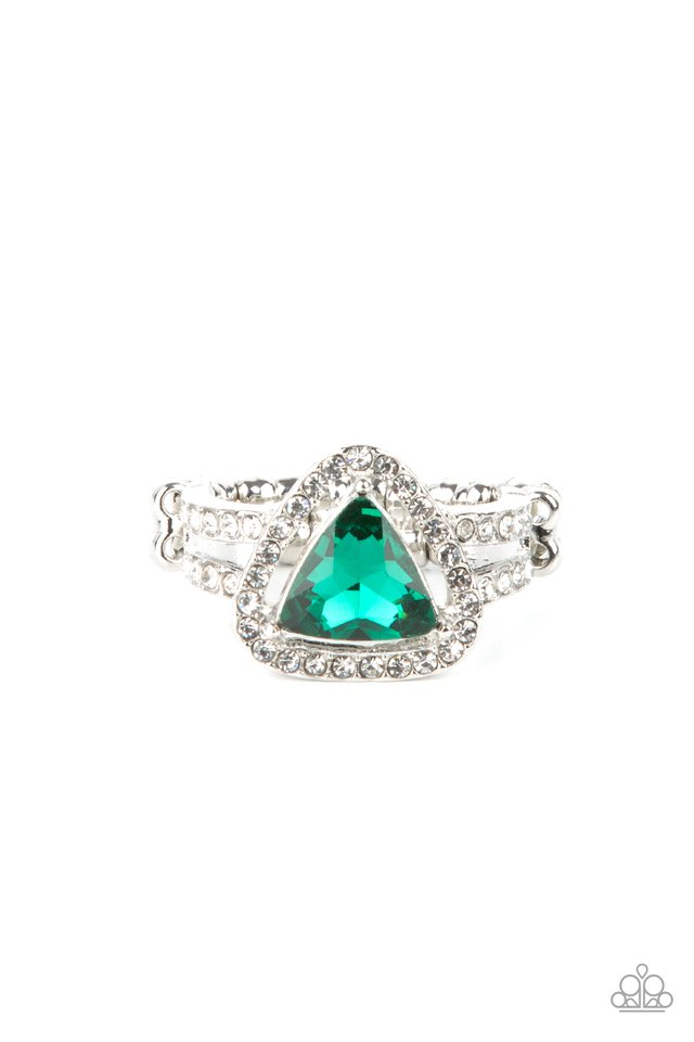 Elevated Engagement - Green - Paparazzi Ring Image