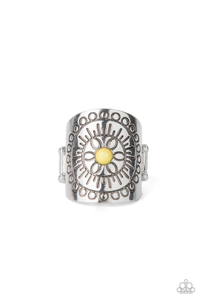 Radiating Whimsy - Yellow - Paparazzi Ring Image