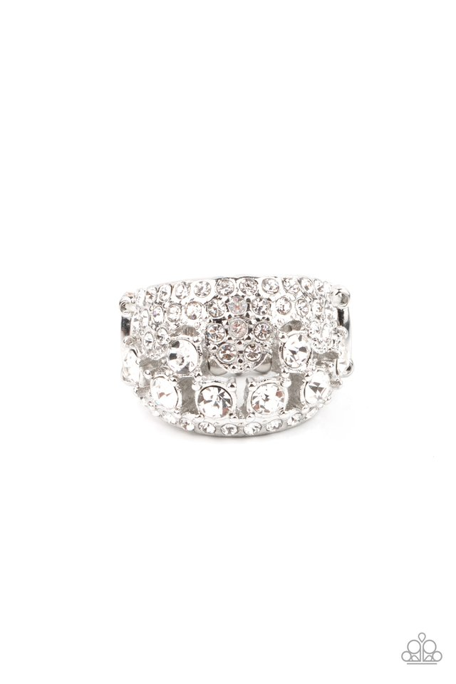 Imperial Incandescence - White - Paparazzi Ring Image