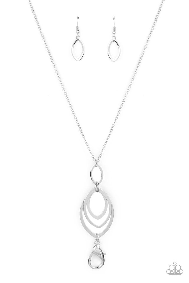 Dizzying Definition - Silver - Paparazzi Necklace Image