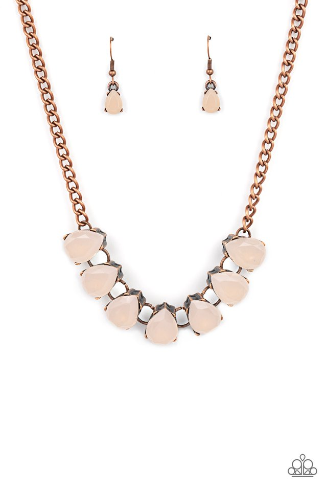 Above The Clouds - Copper - Paparazzi Necklace Image