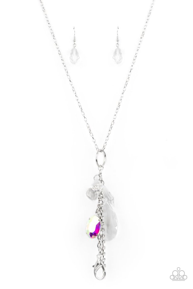 On The Basis Of Baubles - White - Paparazzi Necklace Image