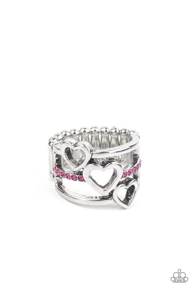 Give Me AMOR - Pink - Paparazzi Ring Image
