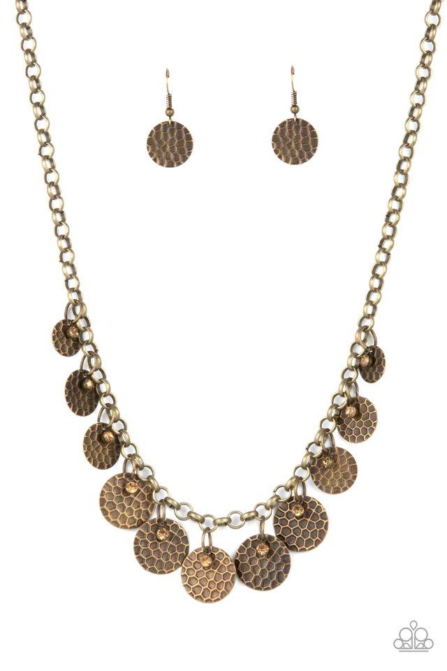 Delightfully Dappled - Brass - Paparazzi Necklace Image