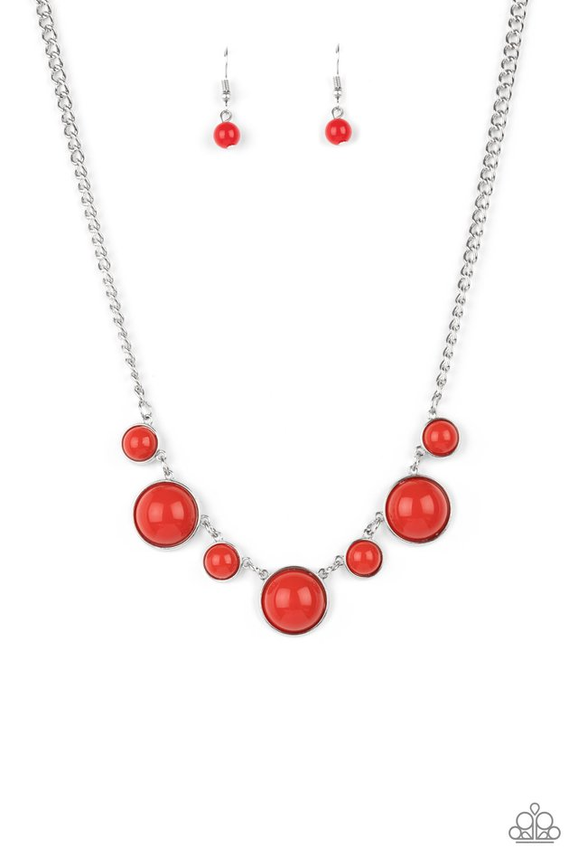 Prismatically POP-tastic - Red - Paparazzi Necklace Image