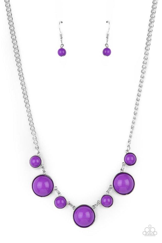 Prismatically POP-tastic - Purple - Paparazzi Necklace Image