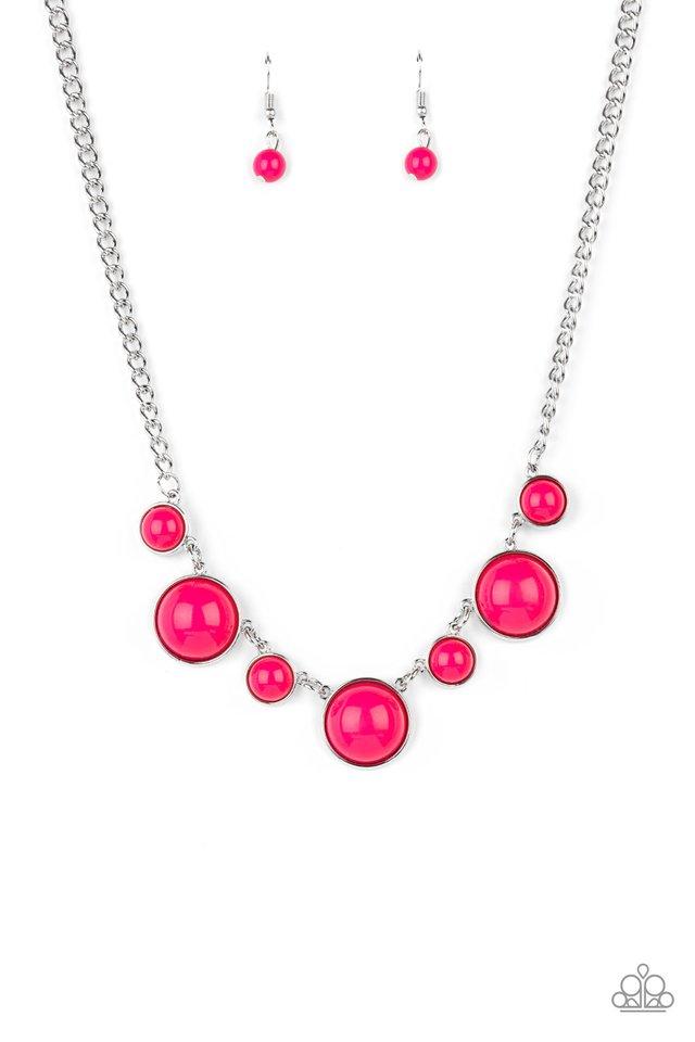 Prismatically POP-tastic - Pink - Paparazzi Necklace Image