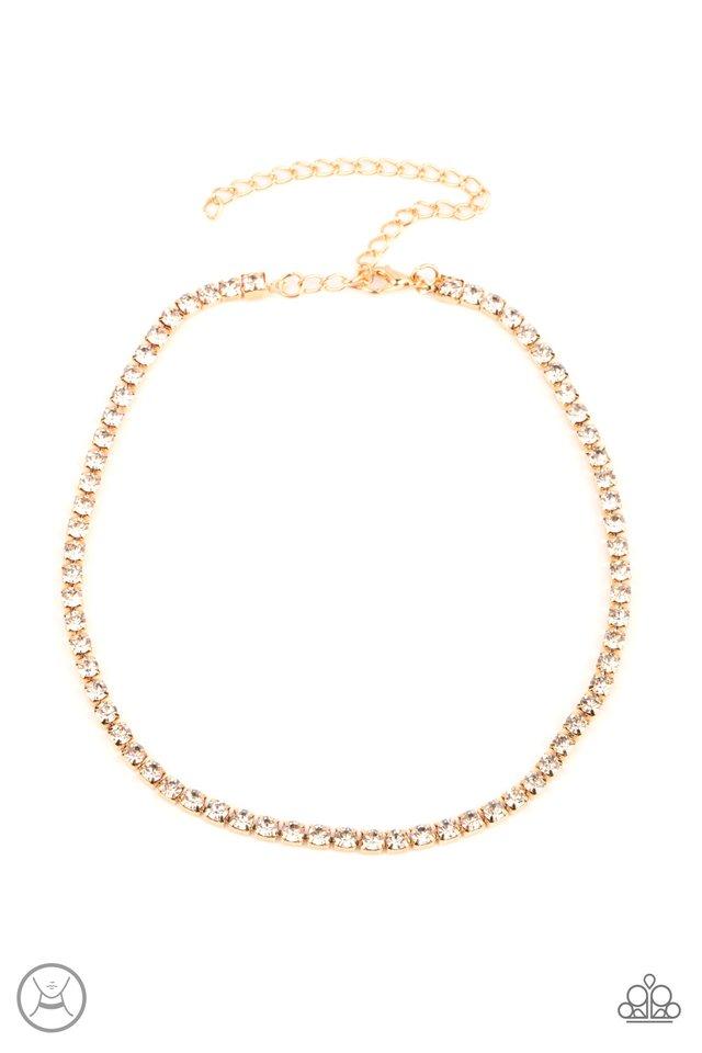 Starlight Radiance - Gold - Paparazzi Necklace Image
