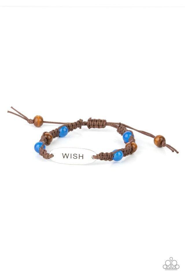 WISH This Way - Blue - Paparazzi Bracelet Image