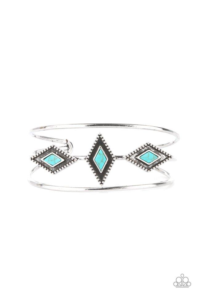 Desert Diamondback - Blue - Paparazzi Bracelet Image