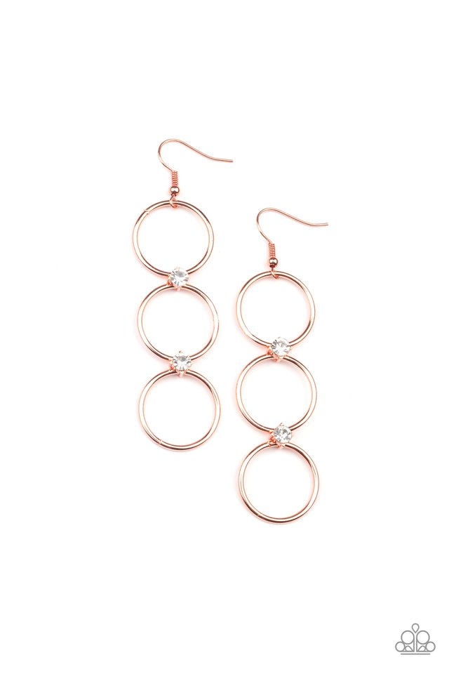 Refined Society - Copper - Paparazzi Earring Image
