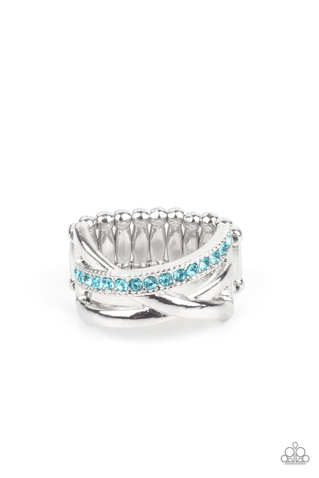 Forever Flawless - Blue - Paparazzi Ring Image