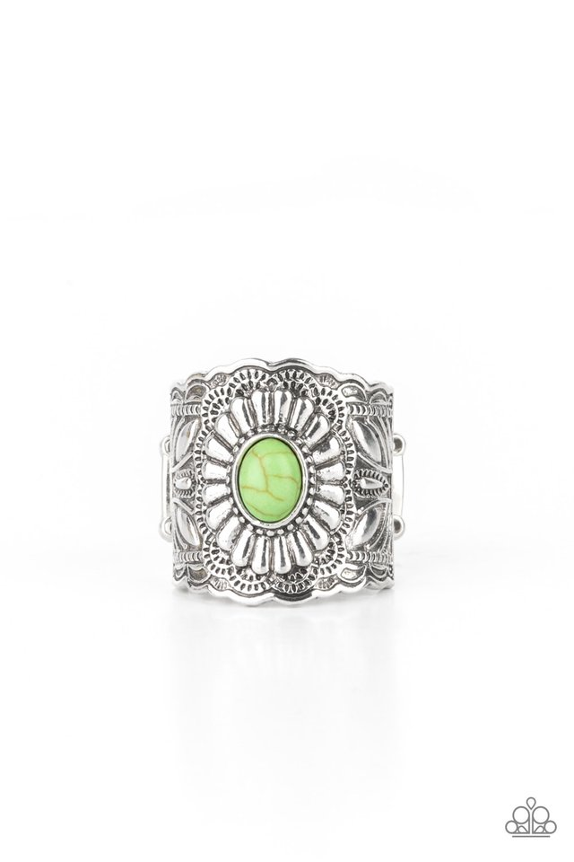 Exquisitely Ornamental - Green - Paparazzi Ring Image