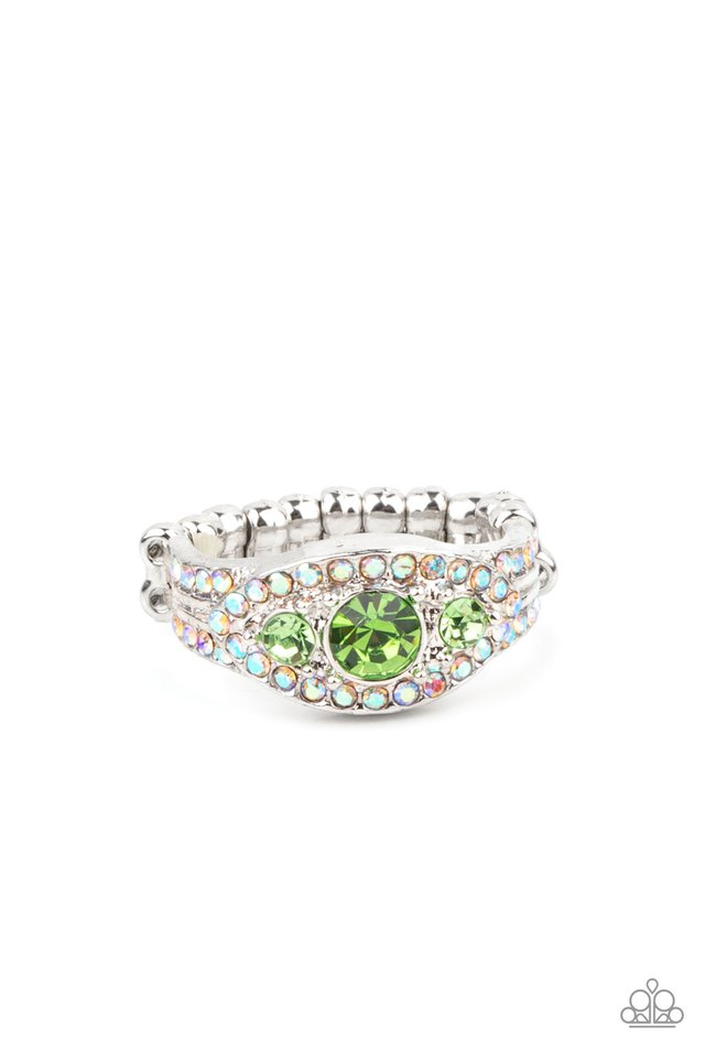 Celestial Crowns - Green - Paparazzi Ring Image
