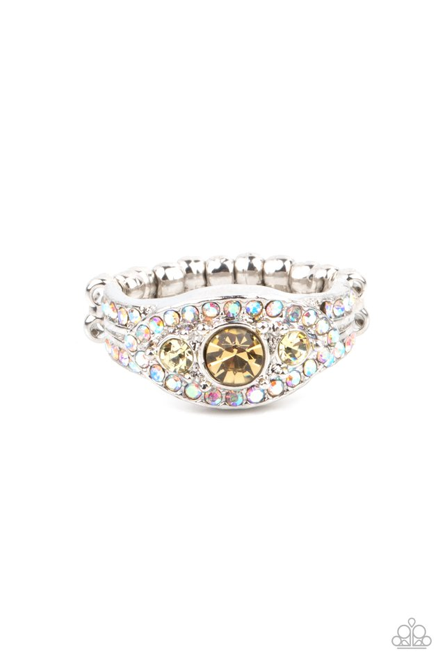 Celestial Crowns - Yellow - Paparazzi Ring Image