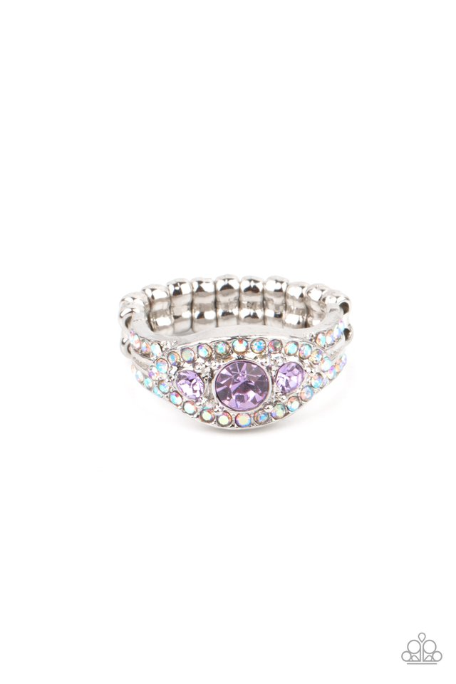 Celestial Crowns - Purple - Paparazzi Ring Image