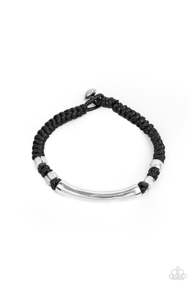 Grounded in Grit - Black - Paparazzi Bracelet Image