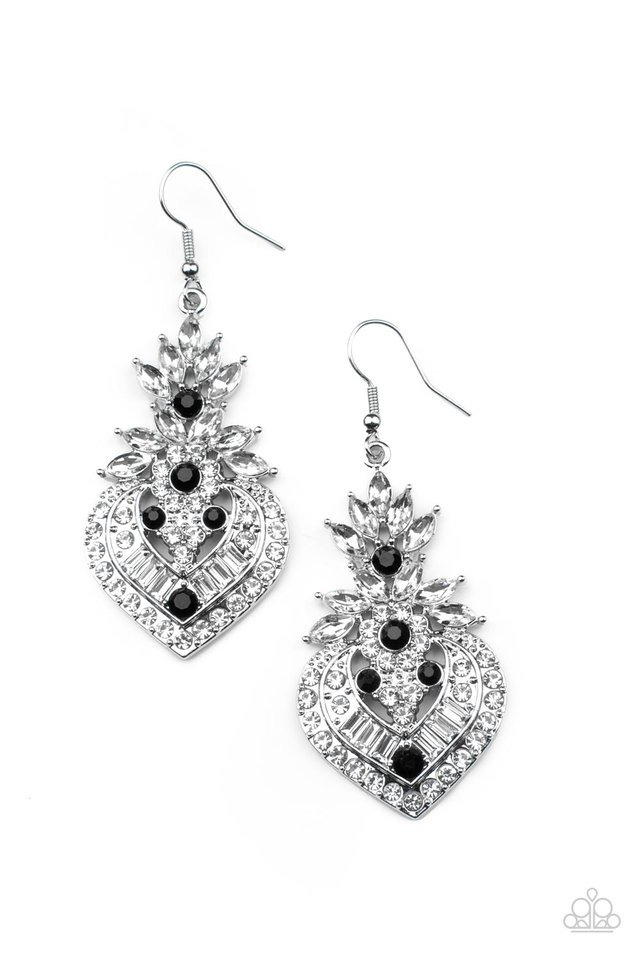 Royal Hustle - Black - Paparazzi Earring Image