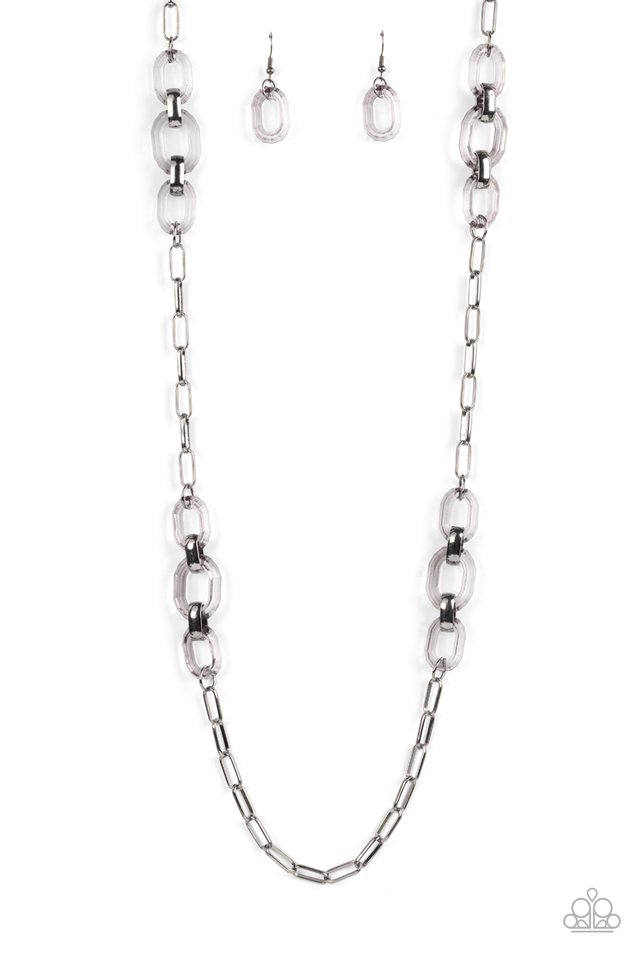 Have I Made Myself Clear? - Black - Paparazzi Necklace Image