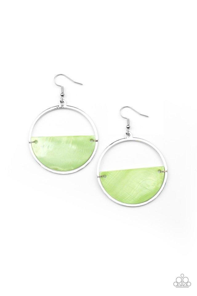 Seashore Vibes - Green - Paparazzi Earring Image