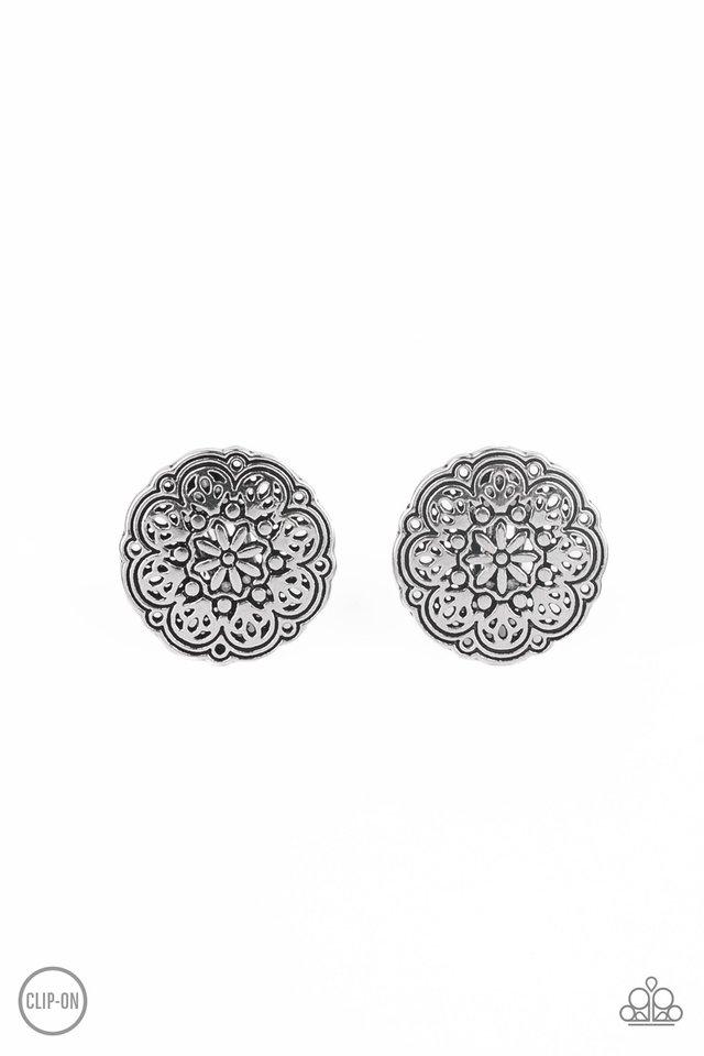 Mandala Harvest - Silver - Paparazzi Earring Image
