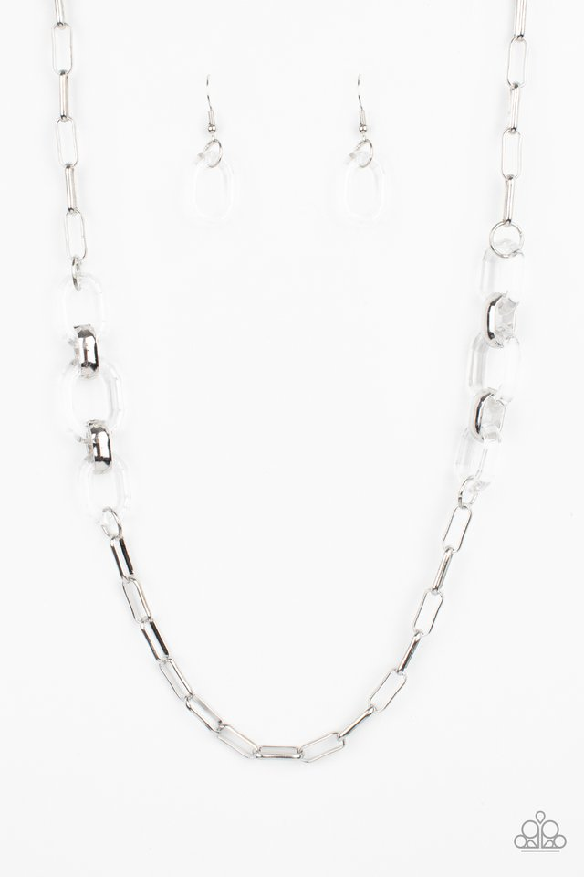 Have I Made Myself Clear? - White - Paparazzi Necklace Image