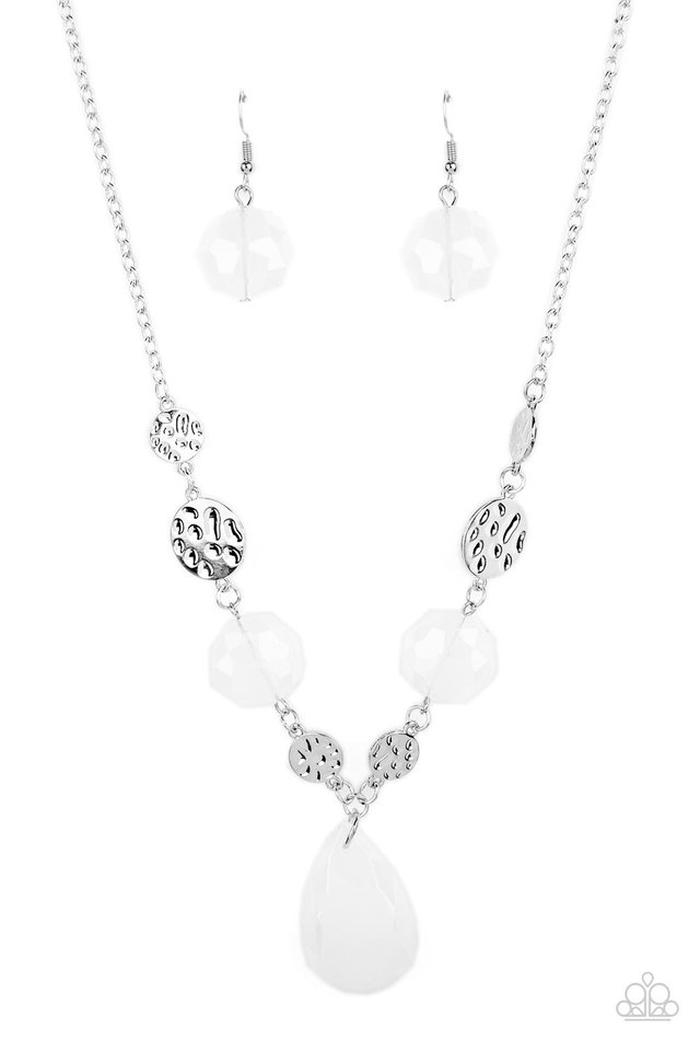 DEW What You Wanna DEW - White - Paparazzi Necklace Image