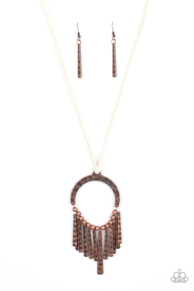 You Wouldnt FLARE! - Copper - Paparazzi Necklace Image