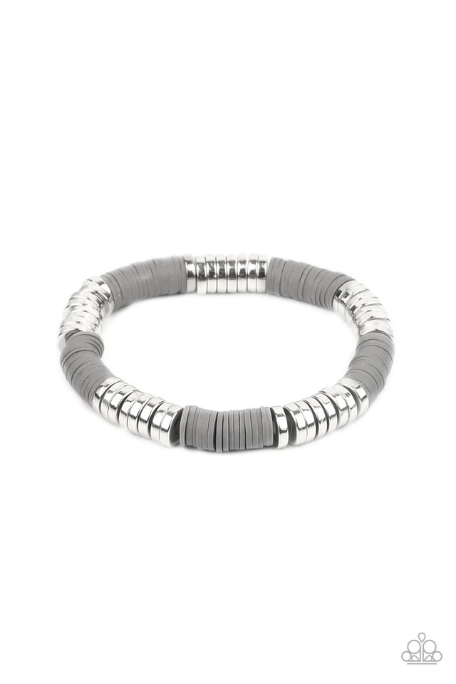 Stacked In Your Favor - Silver - Paparazzi Bracelet Image