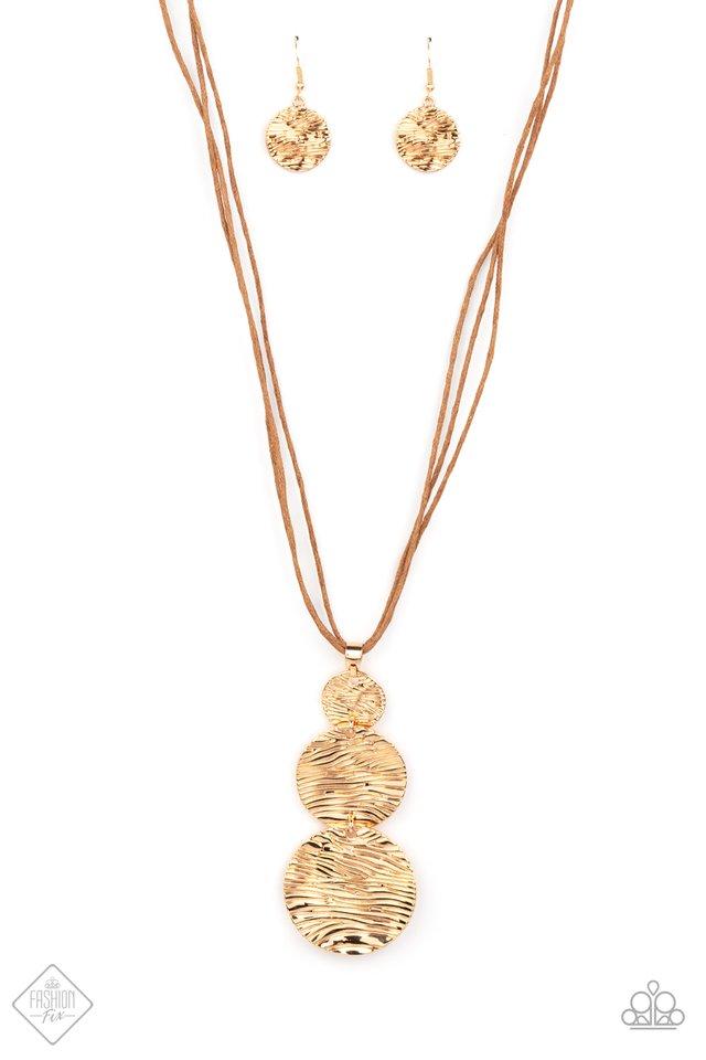 Circulating Shimmer - Gold - Paparazzi Necklace Image