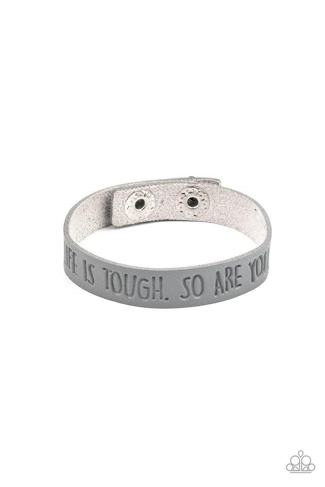 Life is Tough - Silver - Paparazzi Bracelet Image