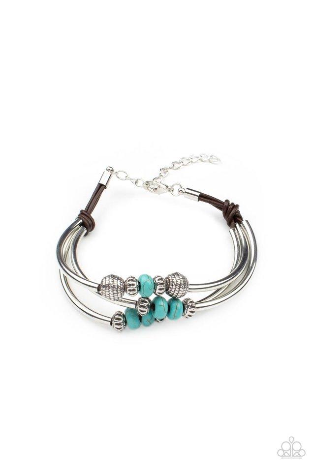Road Trip Rebel  - Blue - Paparazzi Bracelet Image