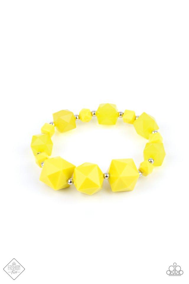 Trendsetting Tourist - Yellow - Paparazzi Bracelet Image