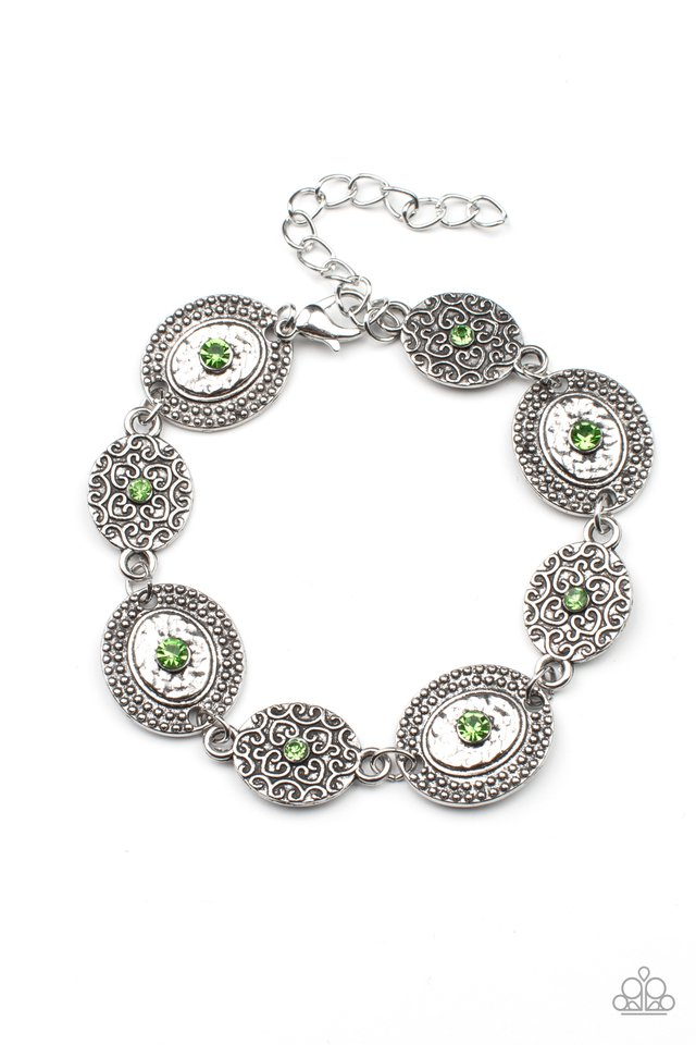 Secret Garden Glamour - Green - Paparazzi Bracelet Image