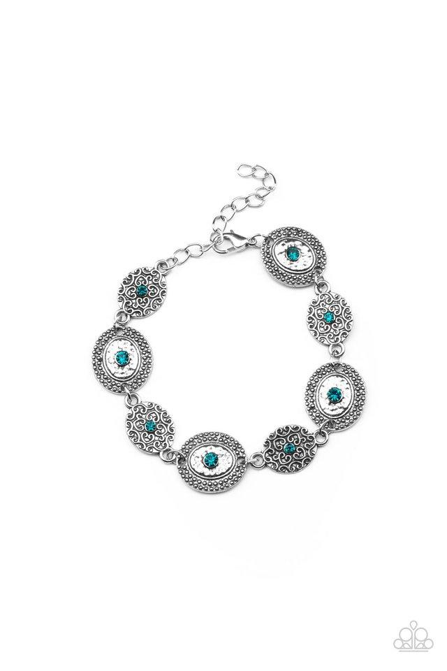 Secret Garden Glamour - Blue - Paparazzi Bracelet Image