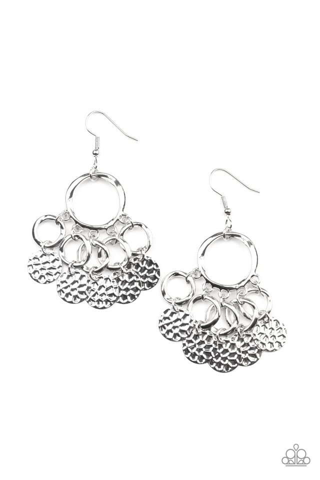 Partners in CHIME - Silver - Paparazzi Earring Image