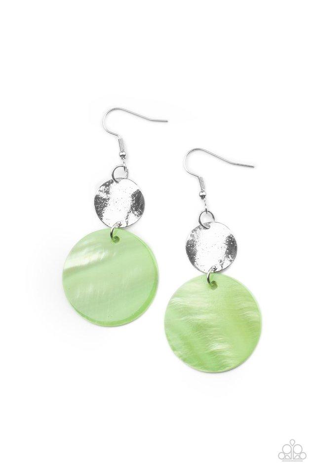 Opulently Oasis - Green - Paparazzi Earring Image