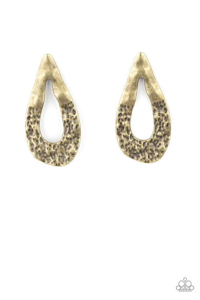 Industrial Antiquity - Brass - Paparazzi Earring Image