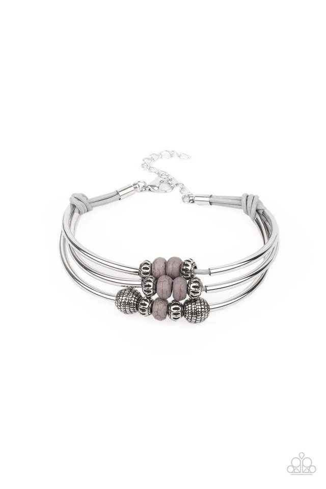 Road Trip Rebel - Silver - Paparazzi Bracelet Image