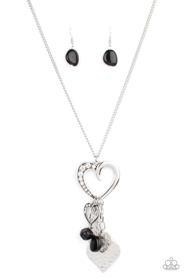 Flirty Fashionista - Black - Paparazzi Necklace Image