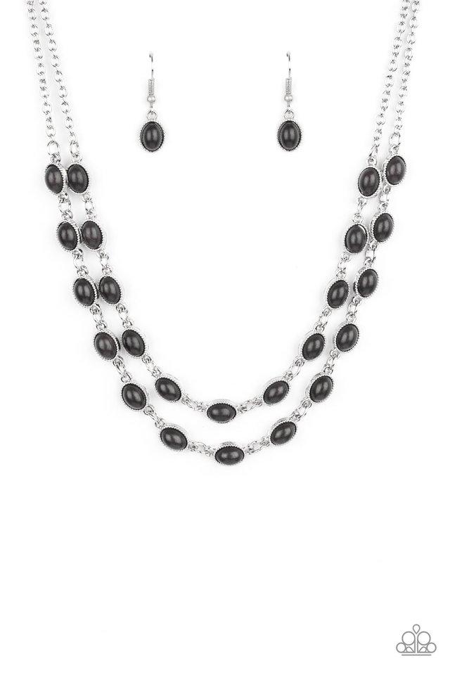 Sahara Safari - Black - Paparazzi Necklace Image