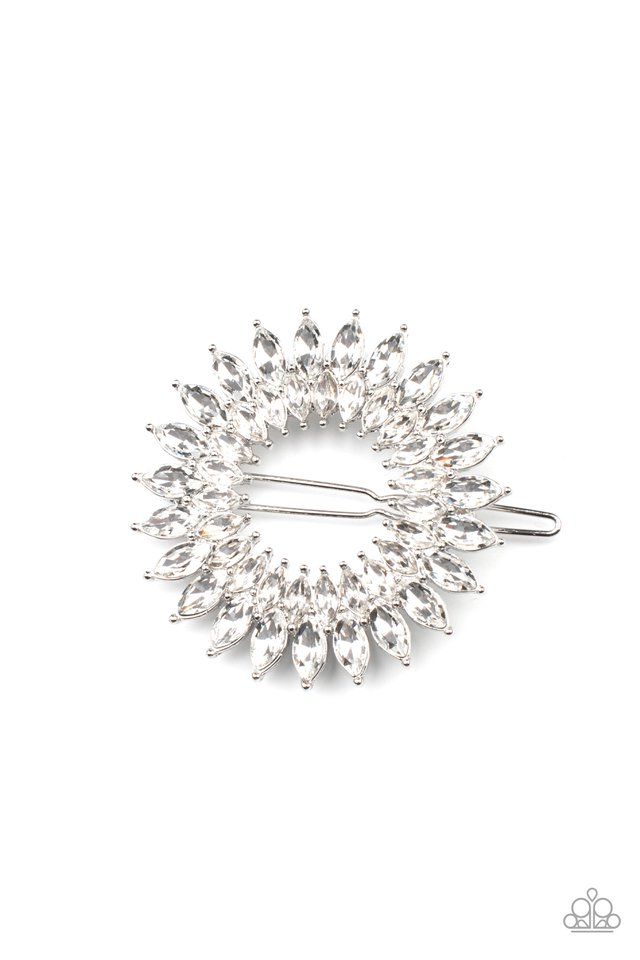 Flauntable Fireworks - White - Paparazzi Hair Accessories Image