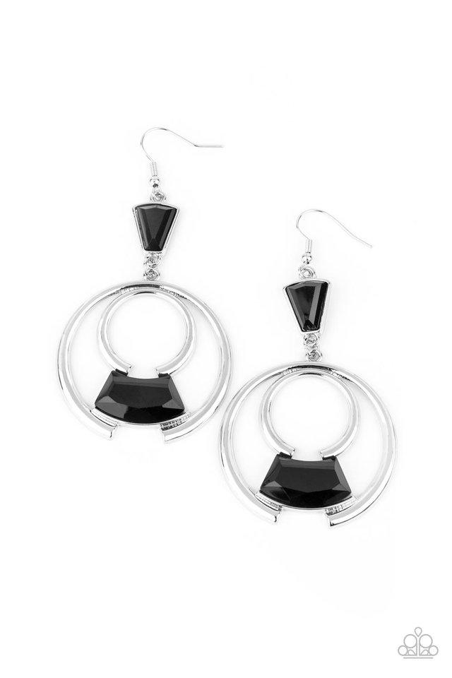 Deco Dancing - Black - Paparazzi Earring Image