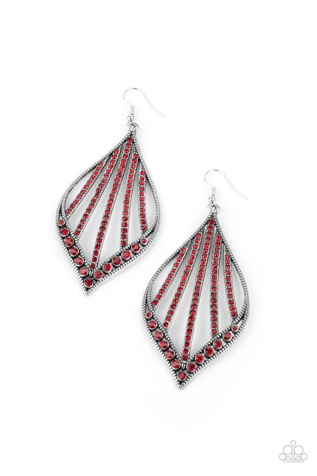 Showcase Sparkle - Red - Paparazzi Earring Image