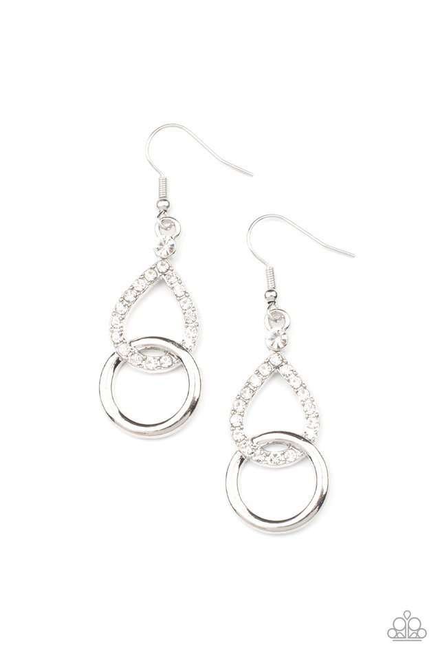 Red Carpet Couture - White - Paparazzi Earring Image