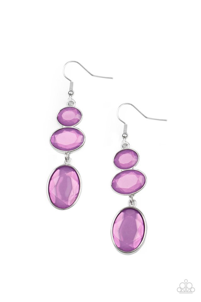 Tiers Of Tranquility - Purple - Paparazzi Earring Image