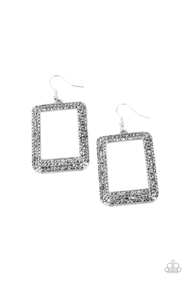 World FRAME-ous - Silver - Paparazzi Earring Image