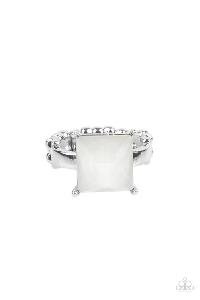 Ready For My Coronation - White - Paparazzi Ring Image